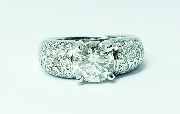 18 carats Or blanc - Bague - 2.01 ct Diamant - Diamants