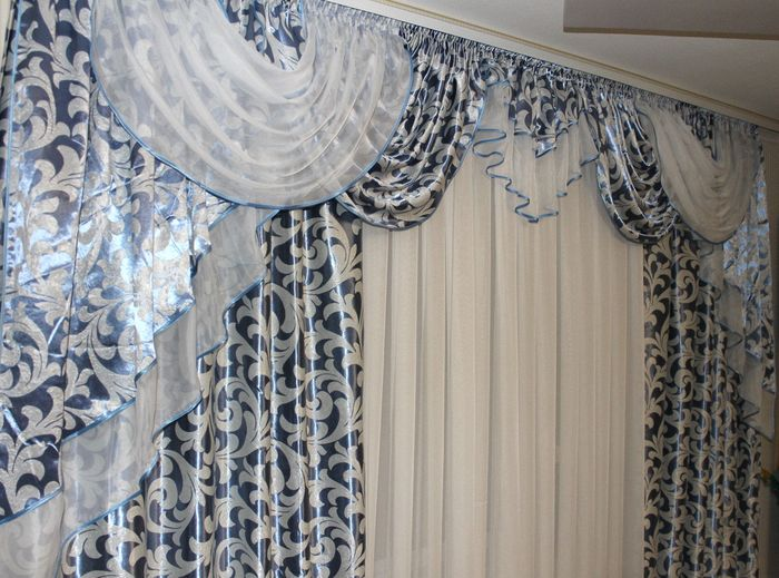 SENSA RESERVE !!! Beautiful curtains with Baroque style lambrequin - Textiles