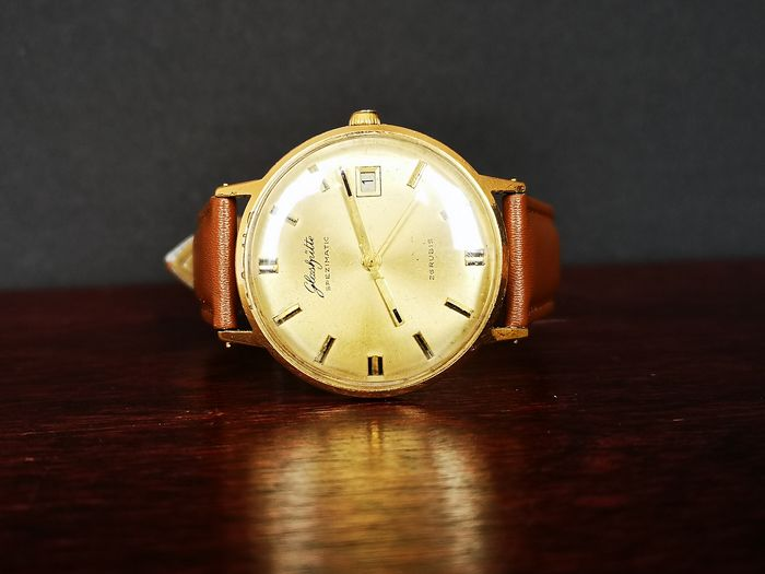 "GUB Glashutte Gold with Calendar - Spezimatic 26 Rubis, Goldplaque- ""NO RESERVE PRICE""  - 315989 - Bărbați - 1960-1969"