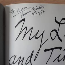 Signed, Henry Miller - My Life and Times - 1975
