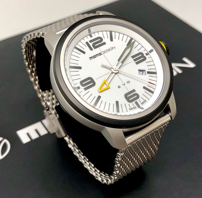 "MomoDesign - Watch EVO Stainless Steel White Dial  - MD1014SB-20 - ""NO RESERVE PRICE""  - Heren - Brand New"