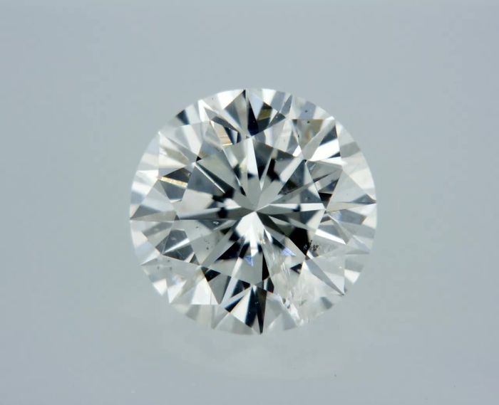 1 pcs Diamond - 0.53 ct - Round - F - SI1