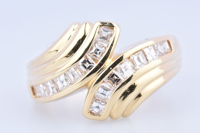 18 kt Gelbgold - Ring - 1.21 ct Diamant - Diamant