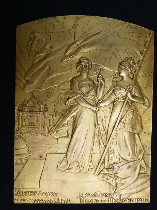 Albert Maignan - plaque Franco-British Exhibition - London 1908
