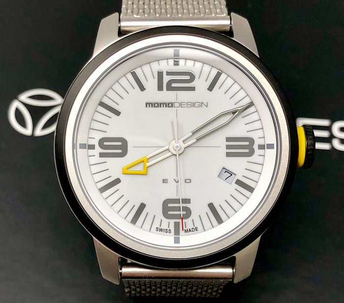 MomoDesign - Watch EVO Stainless Steel Swiss Made - MD1014SB-20 - Men - Brand New