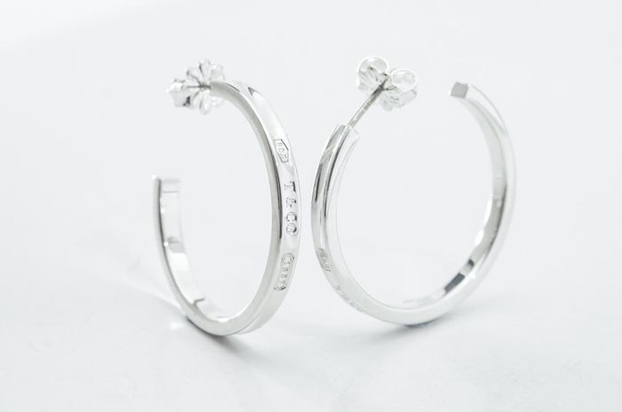 Tiffany 1837 Hoop Earrings Prata - Brinco