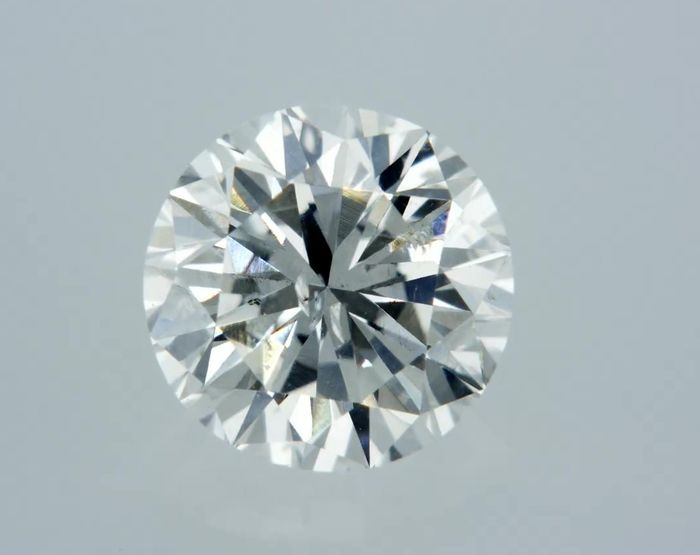 1 pcs Diamond - 0.66 ct - Round - F - SI1