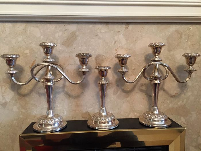 Candelabra, Candlestick (3) - Neoclassical Style