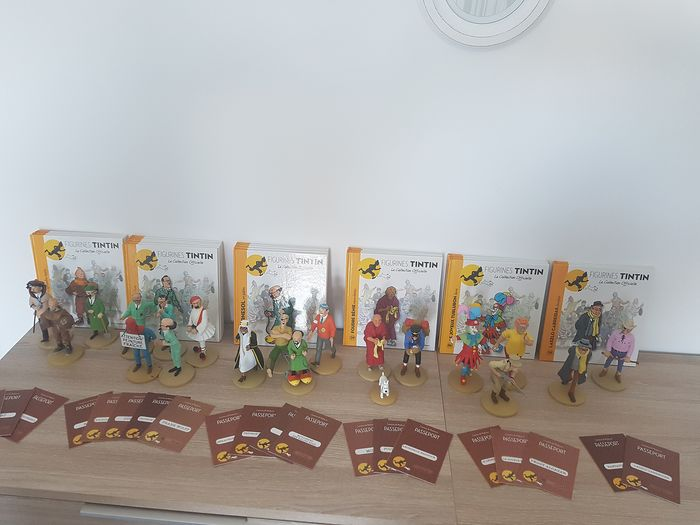 Tintin - 20x Figurine Moulinsart - La collection officielle - (années 2000)