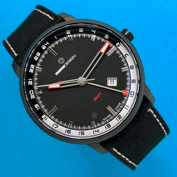 "MomoDesign - Watch Essenziale GMT Black PVD ""NO RESERVE PRICE"" - MD6005BK-12 - Men - Brand New"