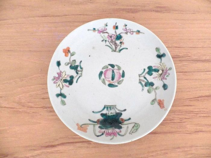 Plate - Famille rose - Porcelain - China - mid 19th century