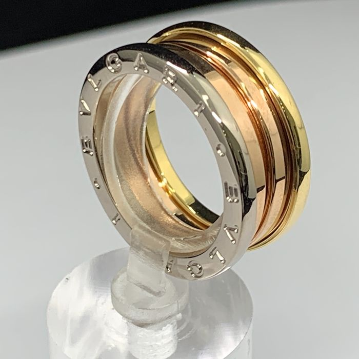 Bvlgari - 18 kt. Pink gold, White gold, Yellow gold - B.zero1 Design Legend 3-Color band ring