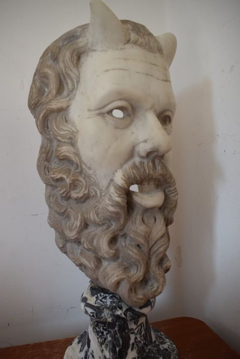 Satyr Theatrical Mask - Italy - Marble - 1900