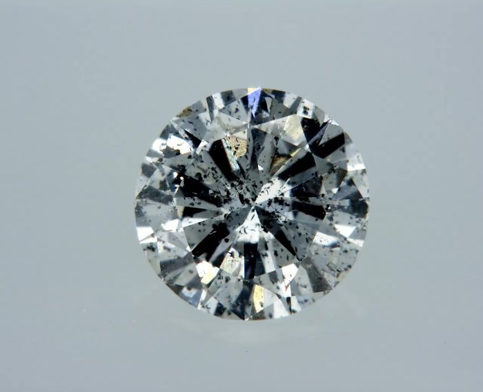 1 pcs Diamond - 0.67 ct - Round - D (colourless) - I1
