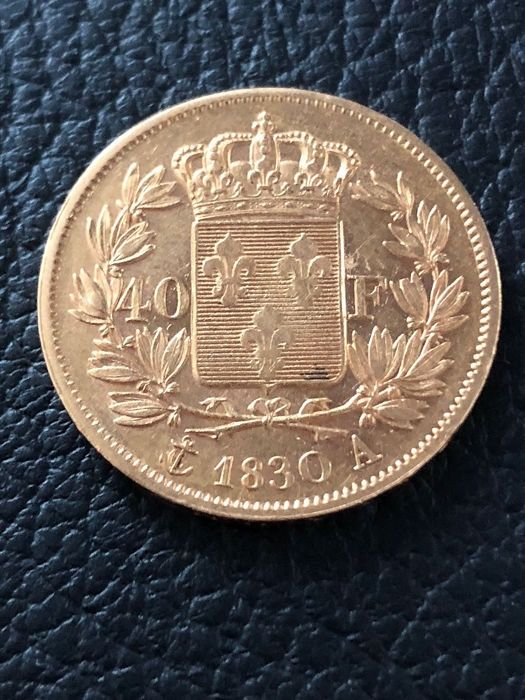 France - 40 Francs 1830-A (Paris) Charles X Roi de France  - Gold