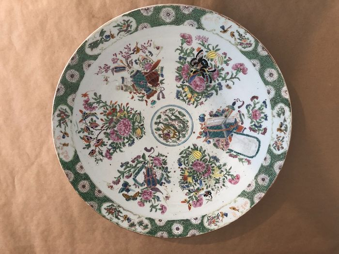 Plate (1) - Porcelain - China - Late 19th century