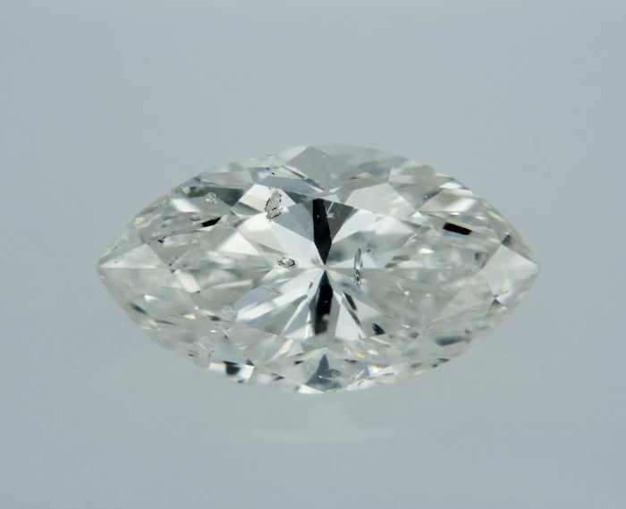 1 pcs Diamant - 0.85 ct - Marquise - F - SI1 - Laser drilled