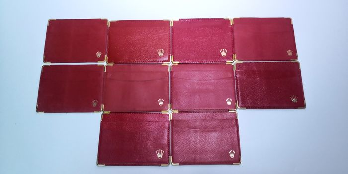 Rolex - vintage Red card holder X10 - mix S/N number - Unisex - 1980-1989