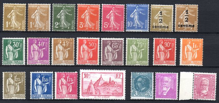 Frankreich 1932/1933 - Two complete years of stamps - Maury 277A à 293