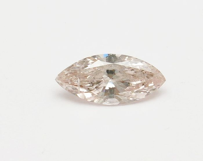 Diamond - 0.47 ct - Marquise - light pink brown - I1