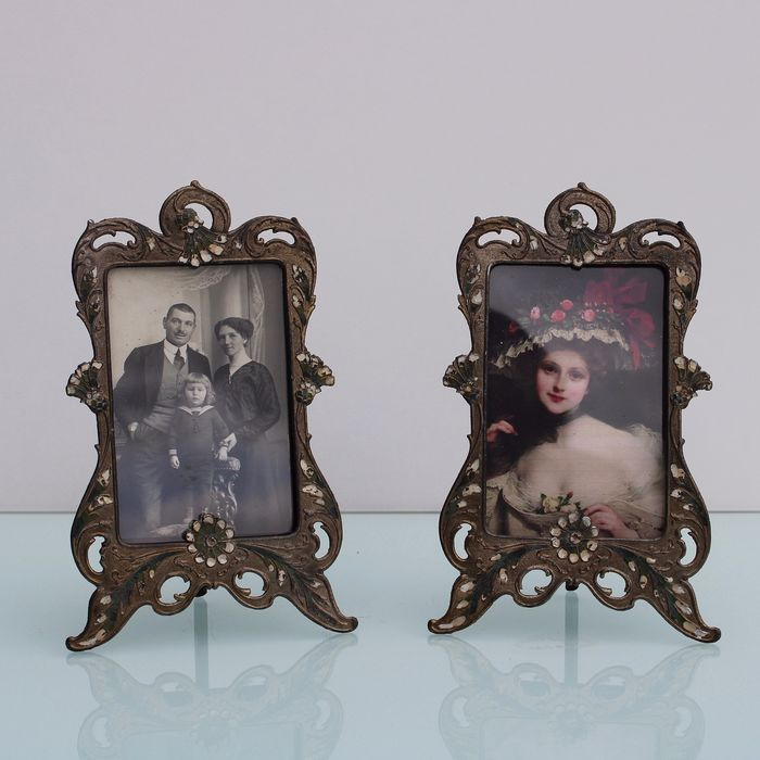 Art Nouveau pair of photo frames