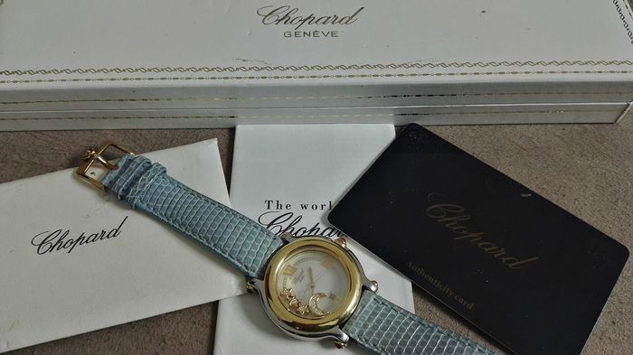 77a463adc2f91 Chopard - Happy Sport Mid Size 2-Tone - Floating Moon and Stars full set