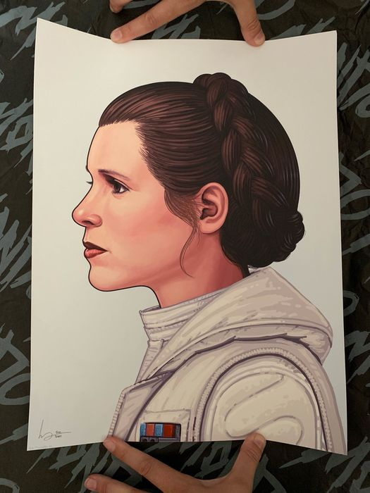 "Star Wars - Poster - ""Leia"" Mondo Exclusive Print by Mike Mitchell"