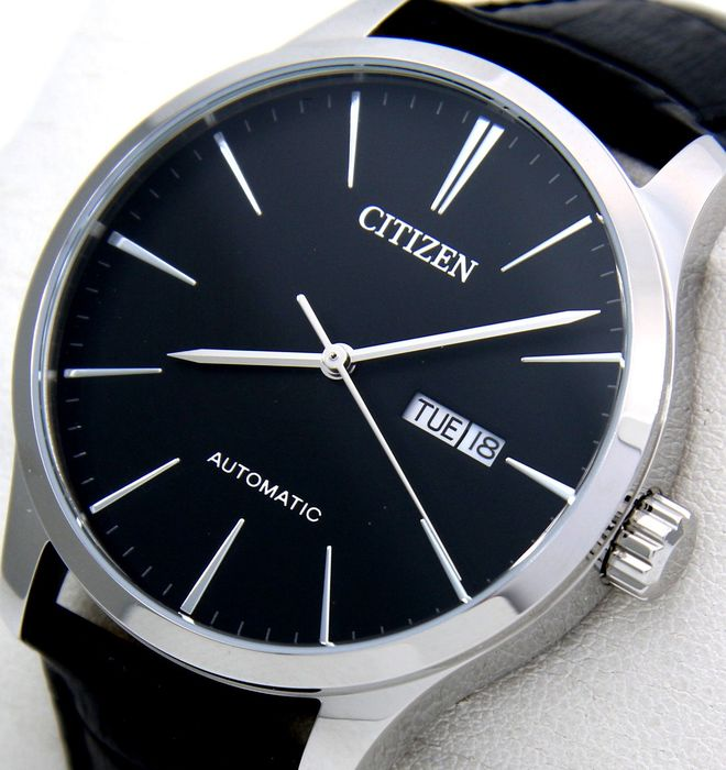 "Citizen - Automatic ""Black Dial"" Leather band -""NO RESERVE PRICE"" - Men - 2019"