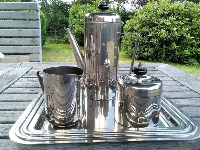 Silver-plated metal coffee or tea set - Silver-plated metal