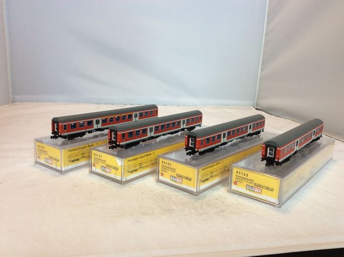 Brawa N - 65130/31/32/33 - Passenger carriage - 4x pieces - (4883) - DB Regio