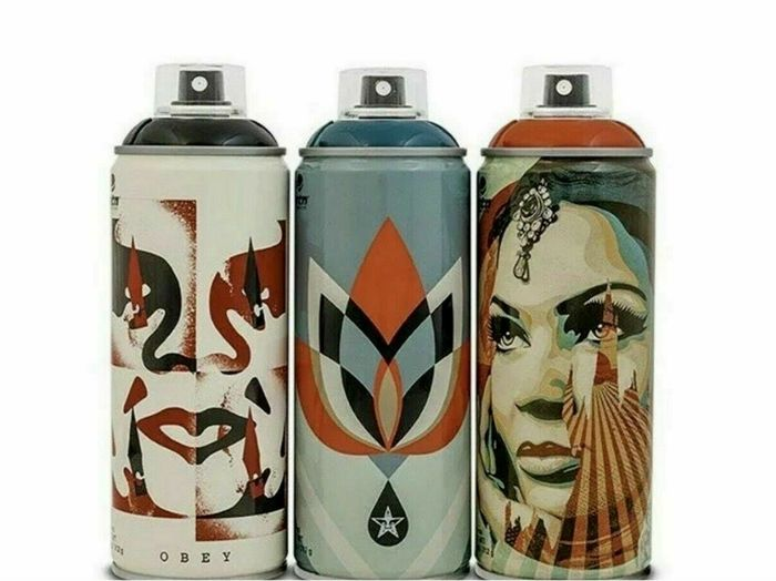 Shepard Fairey (OBEY) - Giant limited edition cans