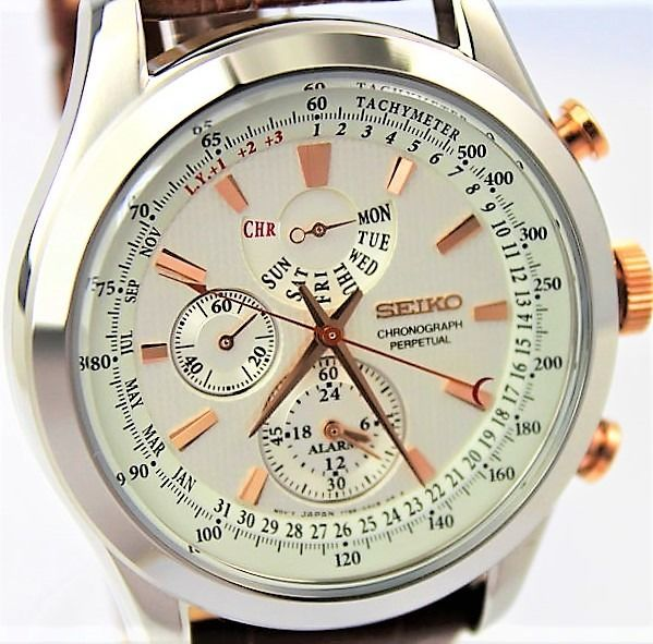 "Seiko - ""NO RESERVE PRICE""  Perpetual Calender - New & Boxed - Heren - 2011-heden"