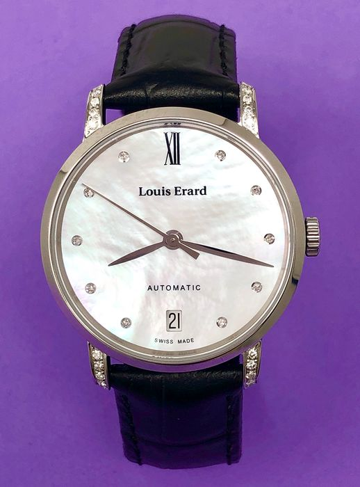 Louis Erard - Diamond Automatic Watch Excellence Collection  - 68235CS14.BDC62 - Dames - BRAND NEW