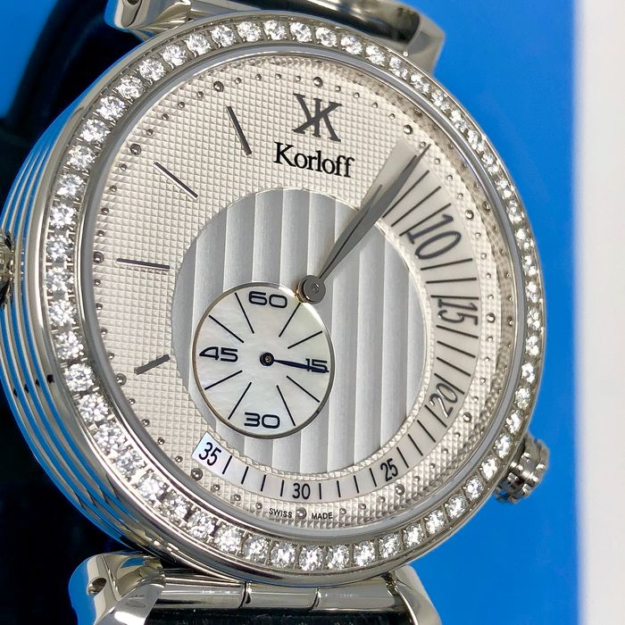 "Korloff - Diamonds GMT 2 Timezones Reversible Voyager Collection 52 Diamonds for 1,40 Carats Swiss Made  - MT3ZWD ""NO RESERVE PRICE"" - Men - BRAND NEW"
