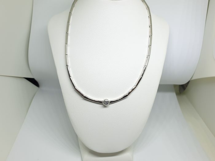 Damiani - 18 carats Or blanc - Collier - 0.15 ct Diamant