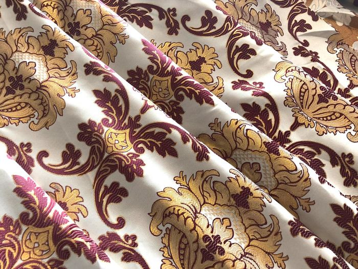 Jacquard fabric 6 X 1.5 m ideal for curtains and upholstery - fabric - Unknown