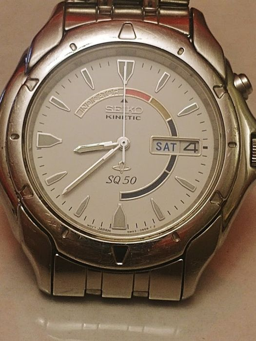 Seiko -  Kinetic Sq 50, SWP 173 P1 - Men - 1990-1999