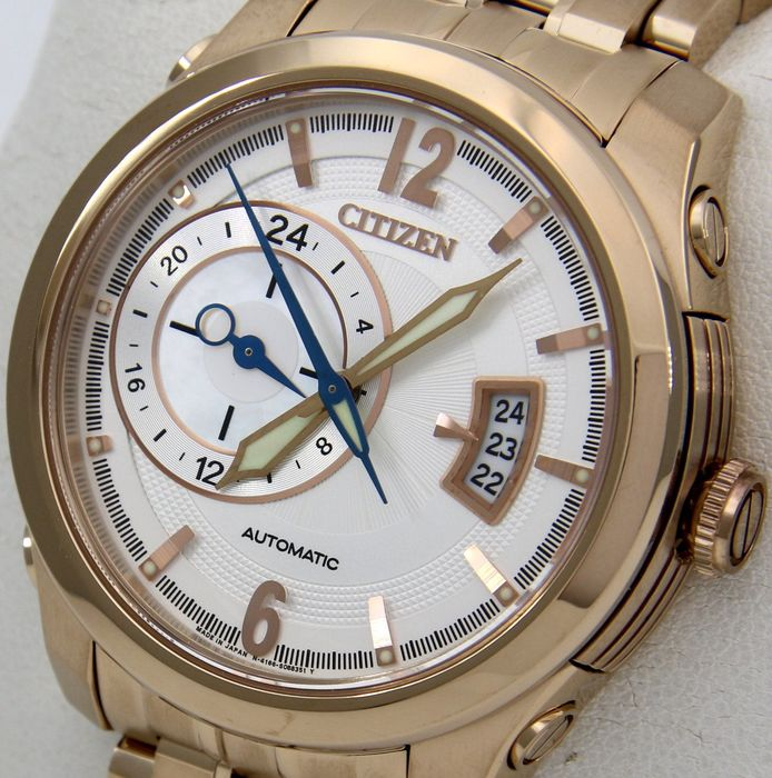 "Citizen - Mechanical Automatic Sapphire Watch ""Gold Edition - Blue Hands""  - Homme - 2011-aujourd'hui"