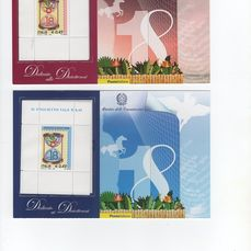 """République d'Italie 2006 - Two """"Diciotteni"""" souvenir sheets, pink and light blue, with letter of the Minister and official - Unificato BFO 1/2"""