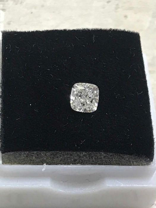 1 pcs Diamond - 0.60 ct - Cushion - F - SI2