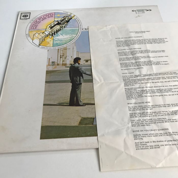 Pink Floyd - Wish You Were Here - rare original Mexican pressing with unique sleeve plus insert - LP album - 1976/1976