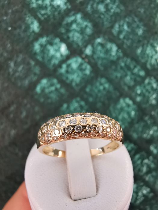 18 kt. Yellow gold - Ring - 0.98 ct Diamond
