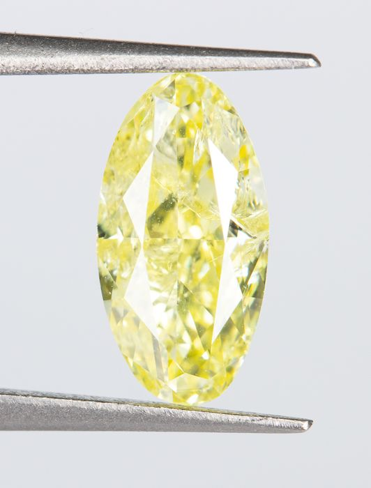 Diamant - 1.00 ct - Naturel Fantaisie INTENSE Jaune - I1  *NO RESERVE*