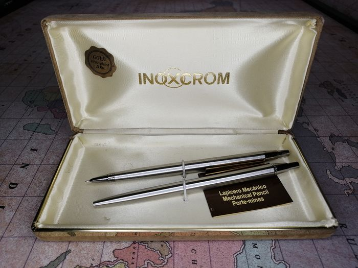 inoxcrom - pencil holder and pen - 2