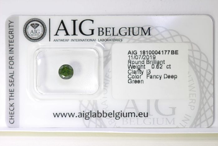 Diamant - 0.62 ct - Brillant - ( Treated Color ) - * NO RESERVE PRICE *