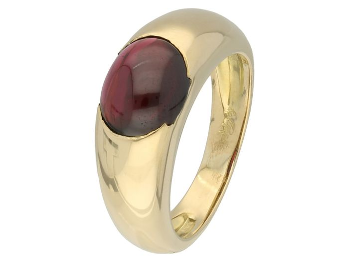 18 carats Or - Bague spinelle