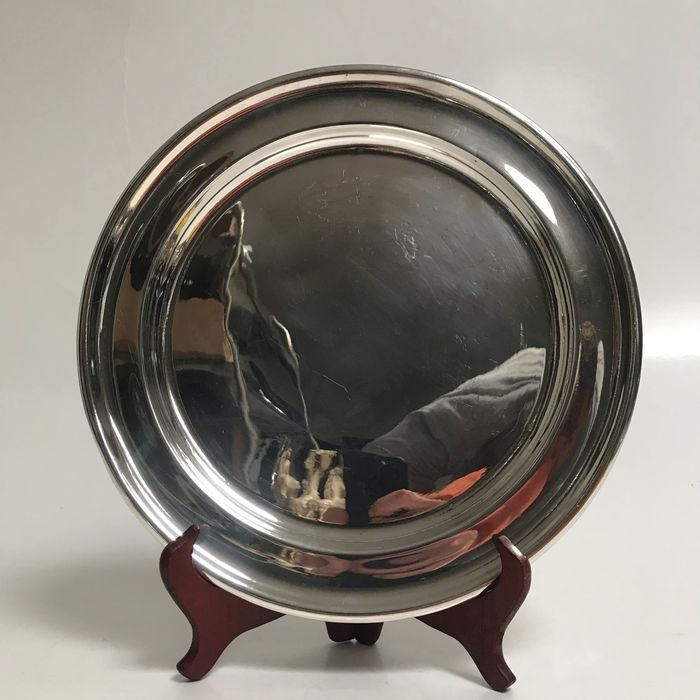 Dish - Silver plated - Mappin & Webb - U.K. - Second half 20th century