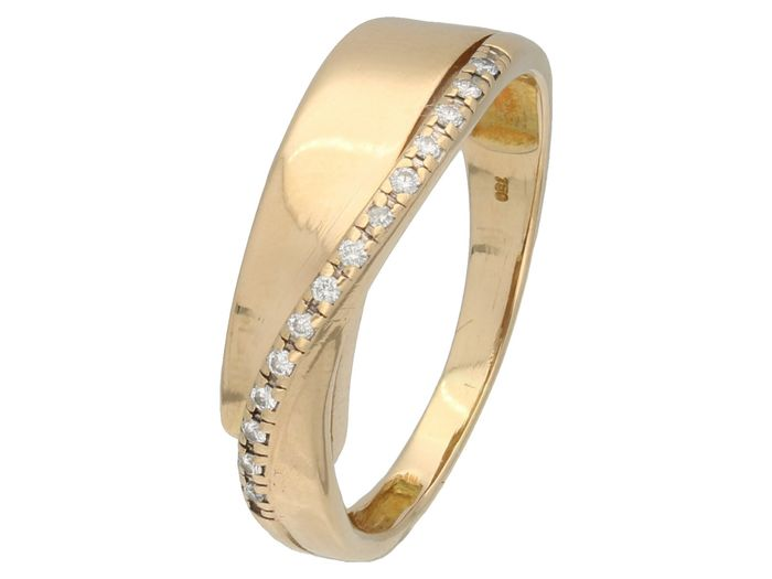 14 kt. Gold - Ring - 0.07 ct Diamond