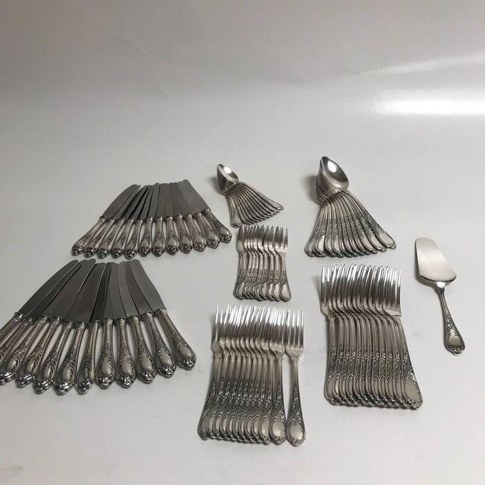 Cutlery set (83) - Silverplate - Germany - Early 20th century