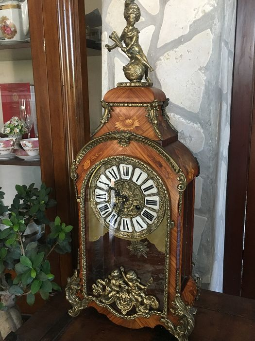 Rare-Large table clock - Ormolu - Second half 20th century